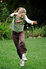 Lexie does a round off, Menlo Park 2008-10-31