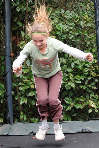 Lexie on the trampoline, Menlo Park 2008-11-08