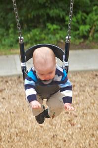 Edmund likes the swing