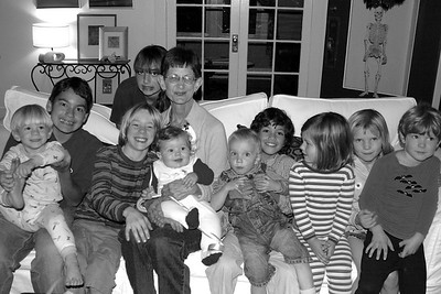 October 2006, Mom with all her grandchildren on her 65th birthday.