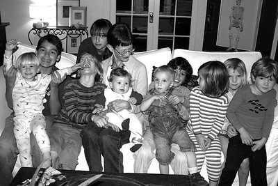 October 2006 Mom with all her grandchildren on her birthday.
