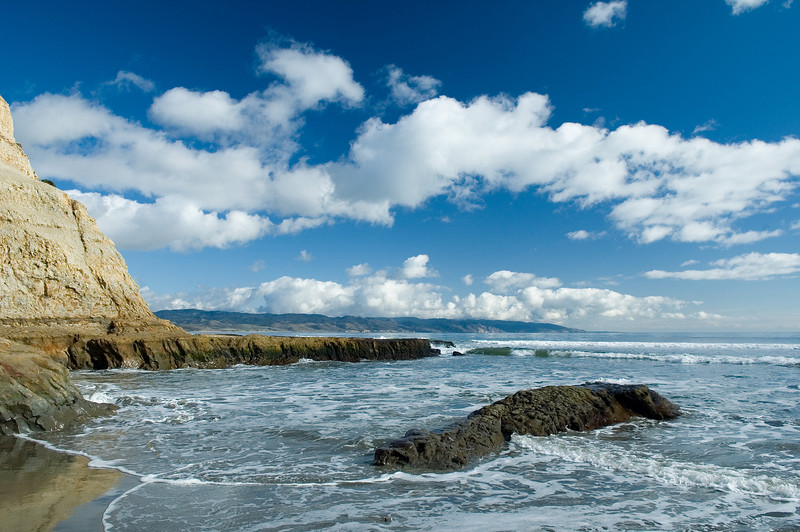 Drake's beach looking towards San Francisco