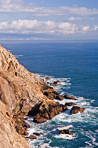 The tip of Point Reyes with San Francisco off in the distance