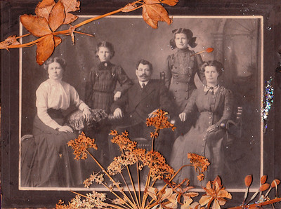 Mollie (Amalia), Millie (Amelia), Bertha (Erv Polfus's Mother), Tillie (Otillia - Evelyn's mother) with their father John Walters. Tillie (Otillia) raised Amalia, Amelia and Bertha when their mom died in childbirth in January 1903 in Daggett (the baby also died) when Bertha was only 4 yrs old and Tillie was 13 yrs old. Erv's family moved to the UP during the depression when he was ~12 yrs old. At 14 he graduated from grade school and started working at Jaspers until he joined the service.