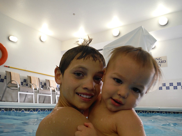 Pool time with cousins (from family reunion in oct. 2015)