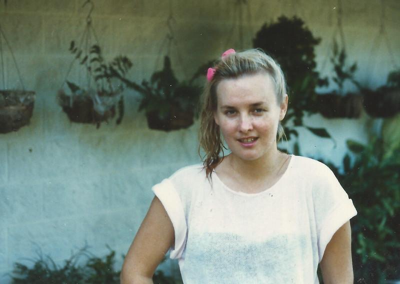 Jane Roderick (nee Tonkin), Rowes Bay, Townsville, ~1984.