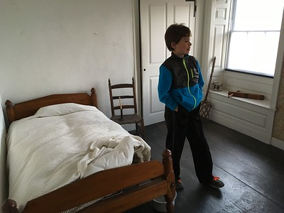 But this smaller, simpler room on the top floor was probably where slaves (and later, servants) slept.  A bell in the room would ring whenever someone pull the ringer at the front door.