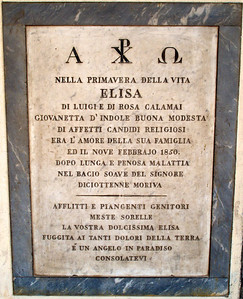 Firenze - San Lorenzo (courtyard, markers)