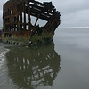 6/17  Moving down the Oregon Coast towards home.  The general area of the mouth of the Colombia River is called the Graveyard of the Pacific by the shipping industy.  This is the remains of a freighter that was run aground over 100 years ago; the wreck was nearby to where we were camping.