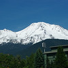 6/10  Driving north we had a wonderful veiw of Mt Shasta.