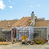 The new roof section takes shape.