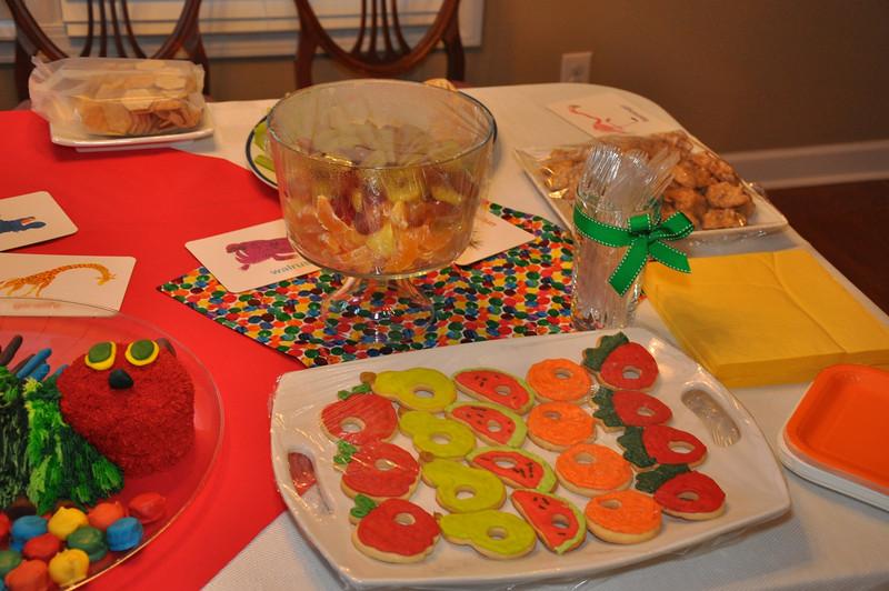 Patrick's 1st birthday: The Very Hungry Caterpillar