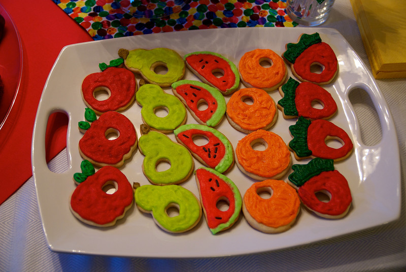 The Very Hungry Caterpillar cookies<br /> Patrick's 1st birthday