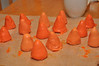 Construction birthday party: traffic cone cake pops
