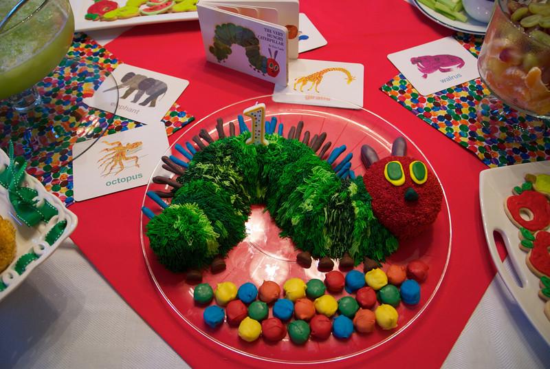 Cake #6: Patrick's 1st birthday: The Very Hungry Caterpillar