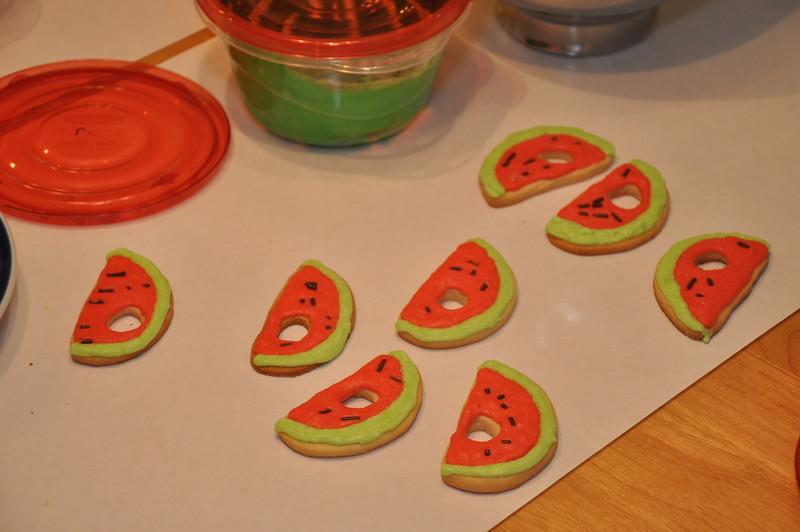 Very Hungry Caterpillar cookies<br /> Patrick's 1st birthday