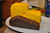 Construction birthday party: bulldozer cake