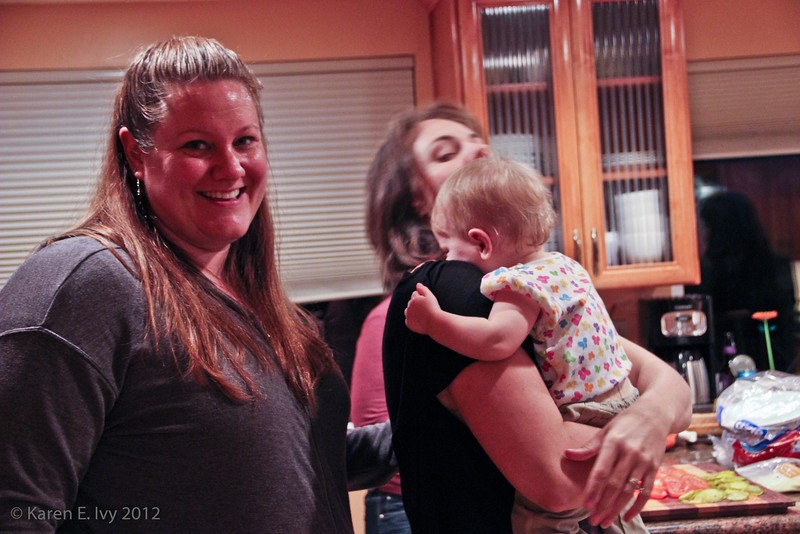 Amy, Shannon holding Quincy