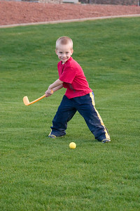 Trey taking a swing