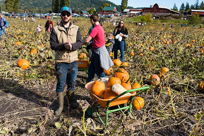 A man and his bucket of gourds