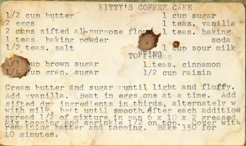 Breakfast Kitty's coffee cake 1