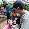 Chase and her Daddy hanging out at the Butterfly House