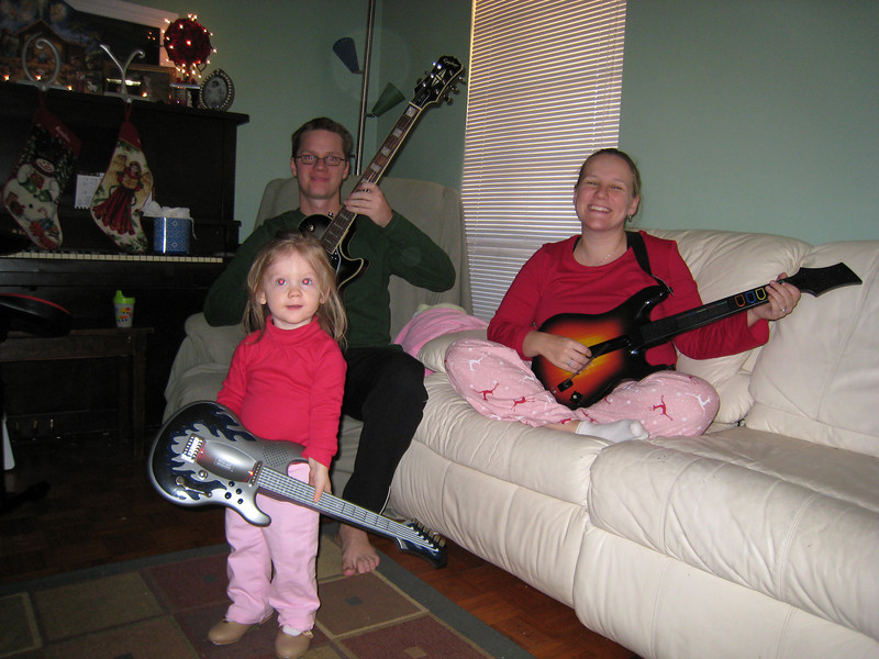 Nate, Malaika & Kendra -- Guitar Hero Family!