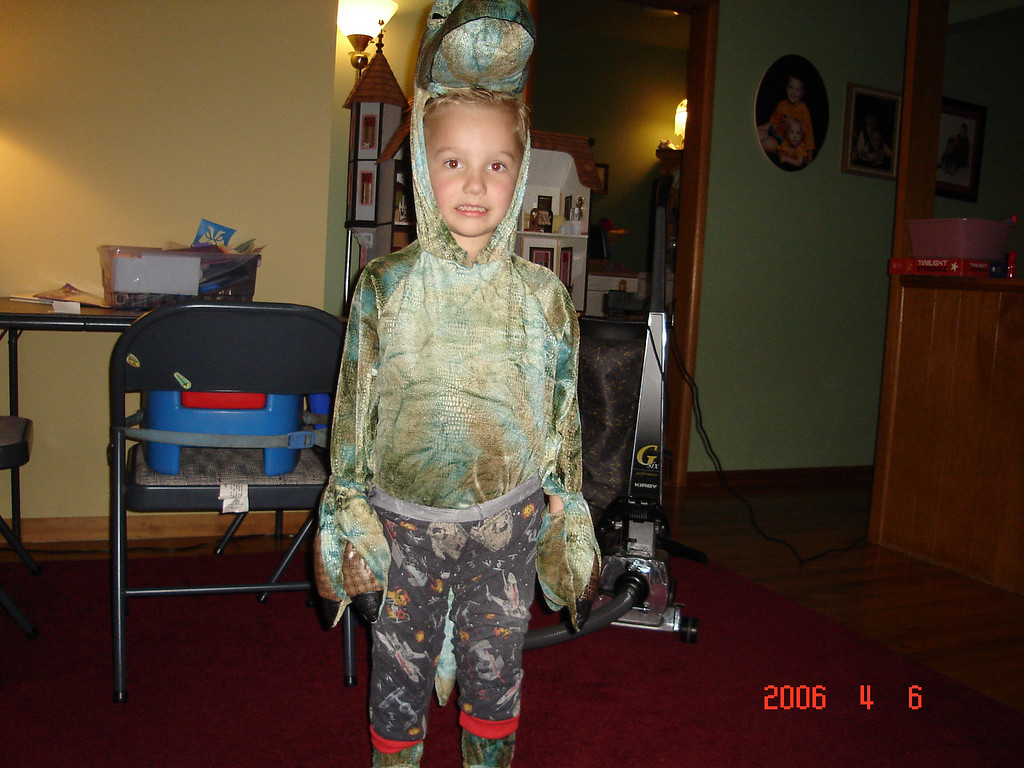 Ian wore this costume a lot to pre-k !