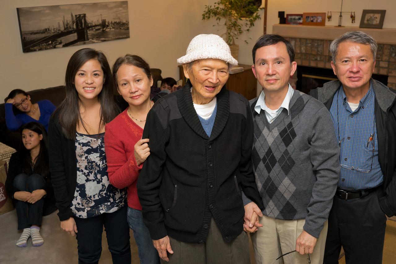 Sarah, Aunt Hue, Grandpa, Uncle Truong, Uncle Truc