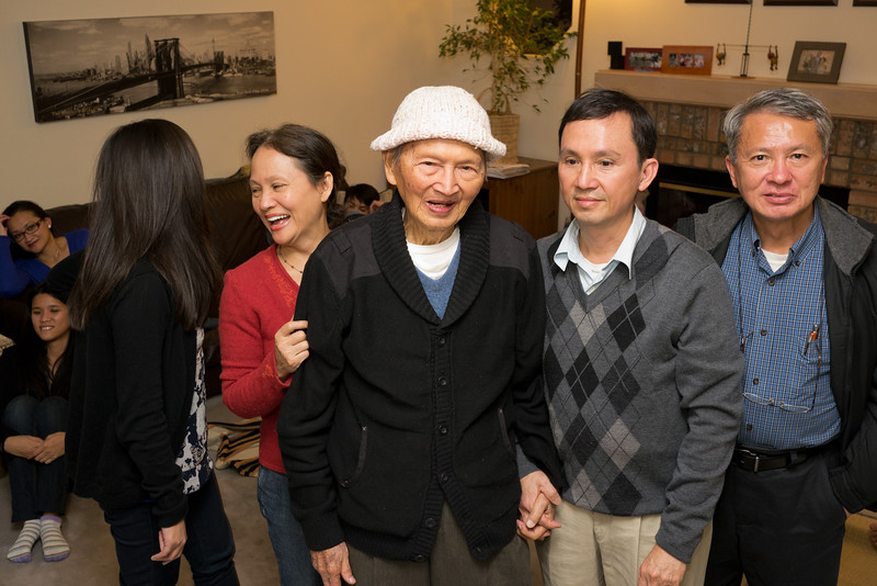 Sarah, Aunt Hue, Grandpa, Uncle Truong, Uncle Truc