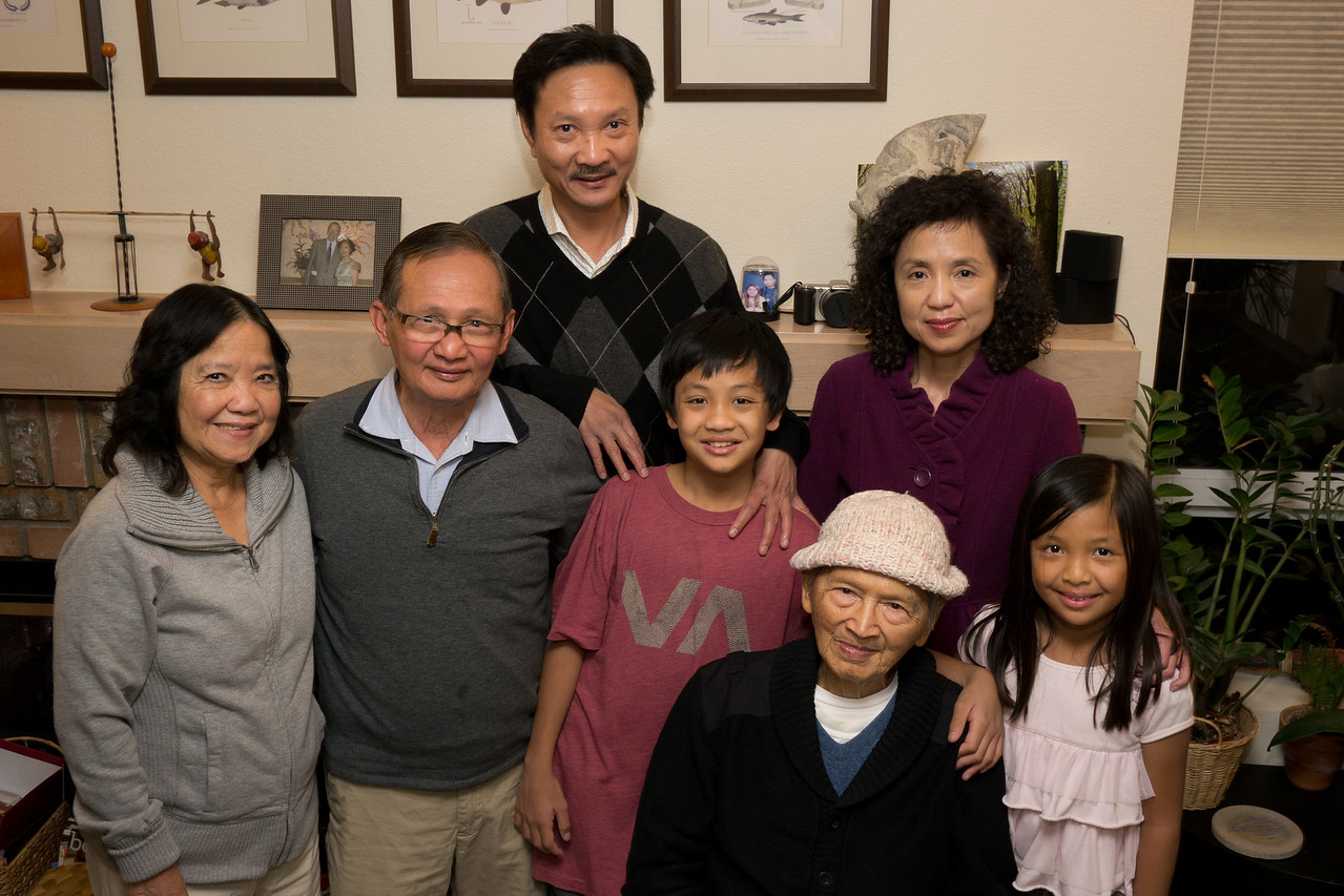 Uncle Sang's family and grandpa