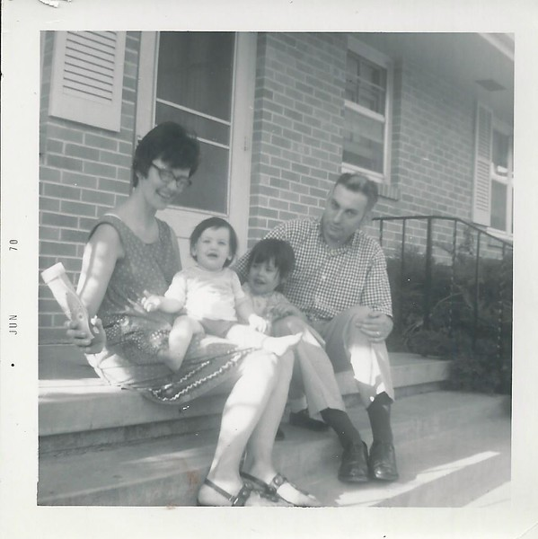 Barbara McIntire with husband name unknown. She is buds cousin edwin mcin tires daughter