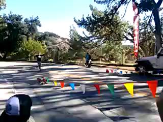 finishing the Griffith Park trail half marathon!