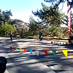 finishing the Griffith Park trail half marathon!