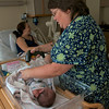 Nurse Jan registering Baby Rachael. Jan was *fabulous*!