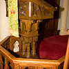 Inside of Trinity Lutheran Church (lectern detailing)