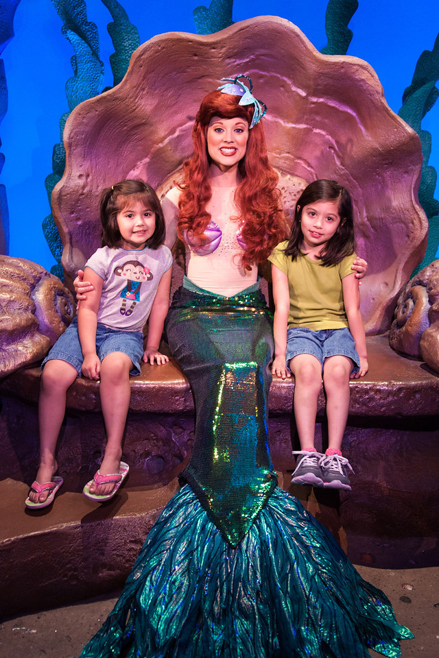 Jessica and Rachel with Ariel
