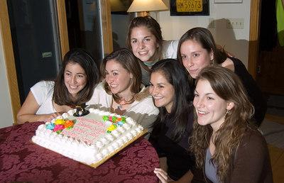 left to right: Shaina, Sarah F., Rachel, Bridget, Cate, Sarah M.C.
