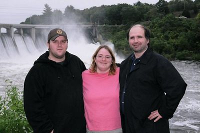 Left to right, David, Adrianne and her husband Fred.