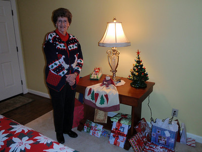 Mom in her Santa sweater