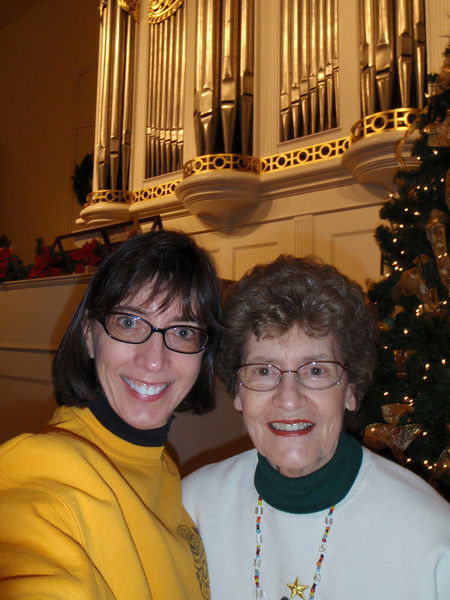 Mom and I attended the organ concert