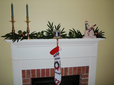 Mom's mantel and stocking