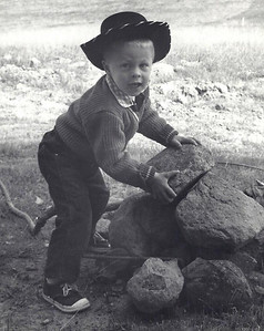 I was a rootin' tootin' cowboy wan'a-be.  Here I am clearing the back forty at the age of three.
