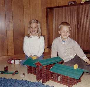 Lincoln Logs were very popular back then.  I built many a ranch house of my own