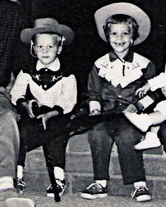 Western movies and TV shows were very popular back in the 1950's and 1960's.  Most indulging Americans got their kids some sort of western-related gear or outfit for Christmas.  We were no exception.  We Beamish kids, however, were also able to live the Western lifestyle at Rancho Carrillo