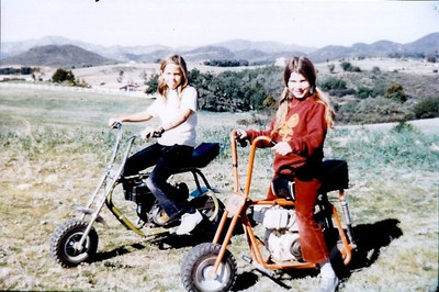 Dad bought a couple of motor scooters that were a ton of fun on the primative roads for us pre-teen drivers