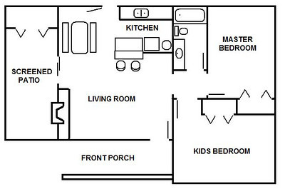 This is the floorplan of the ranch house