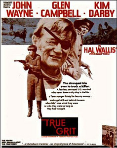 "I was a nine year old kid when the movie 'True Grit' came out.  My parents took us to see the movie while we were on a cross-country vacation in 1969. True Grit was the first cowboy movie that I thought was realistic.  The acting, the costumes, and the scenery seemed much more authentic than the ""clean"" sets and dress of the typical 1950's and 60's cowboy movies and TV shows.  The background music was not authentic, but it was perfect for setting the atmosphere of the film.  I stopped being a big TV cowboy fan after True Grit came out because it made all the other old shows seem corny.  Another good John Wayne western movie was 'The Cowboys', which came out when I was 12.  My parents sold the ranch house at that time and my cowboy days were definitely over."