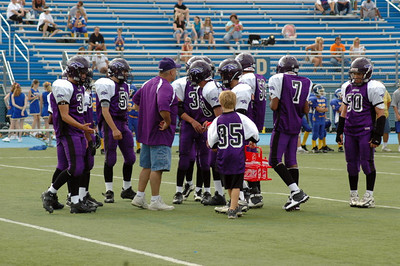 And A Well Deserved Water Break For the Defense - Coach Donnie and The Defense