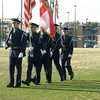 AF JROTC cadet color guard at Choctawatchee High School memorial presentation